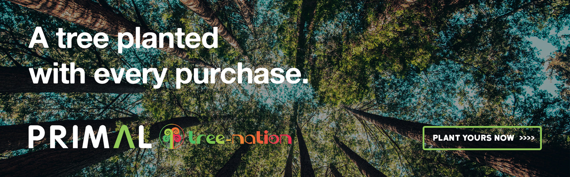 A tree planted with every purchase Treenation Primal