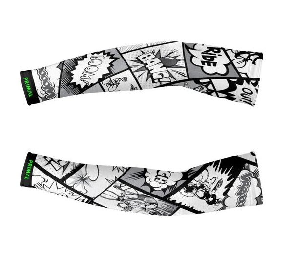Comic Book Thermal Arm Warmers -  Custom Cycling Clothing and accessories online - Primal Europe