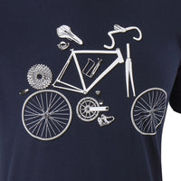Assembly Required Navy T-Shirt - Primal Europe Cycling clothing