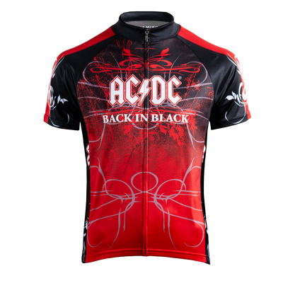 Men's AC/DC Back in Black Jersey -  Custom Cycling Clothing and accessories online - Primal Europe