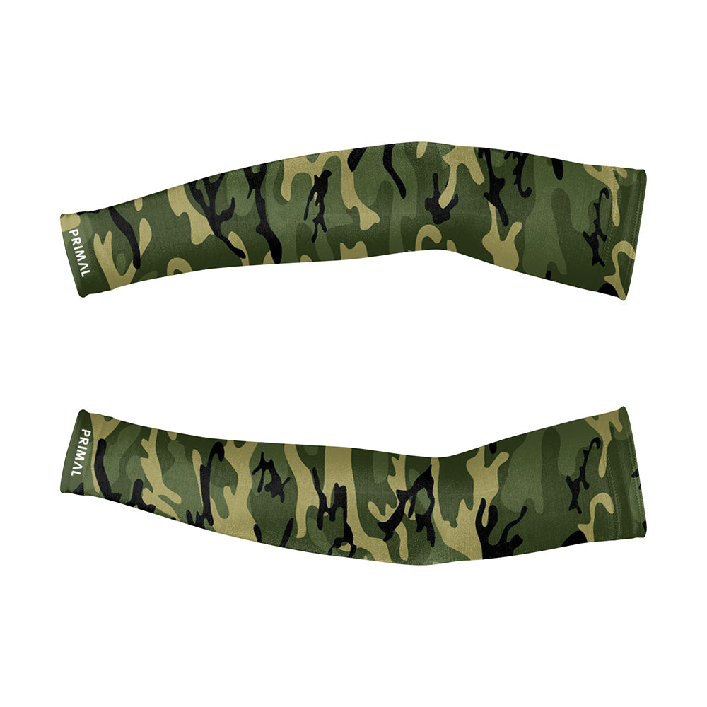 Camo Arm Warmers - Green - Primal Europe Cycling clothing