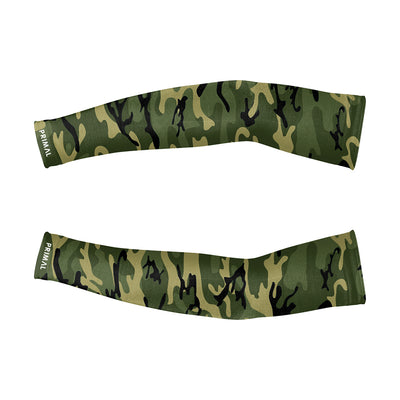 Camo Cycling Arm Warmers - Green -  Custom Cycling Clothing and accessories online - Primal Europe