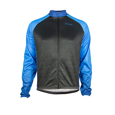 Blackburn Men's Heavyweight Cycling Jersey - Blue -  Custom Cycling Clothing and accessories online - Primal Europe