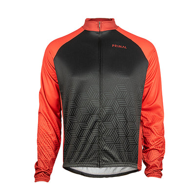 Blackburn Men's Heavyweight Cycling Jersey - Red - Primal Europe Cycling clothing