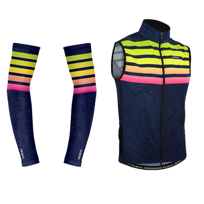 Chameleon 4 Pocket Wind Cycling Vest & Arm Warmers (Bundle&Save) -  Custom Cycling Clothing and accessories online - Primal Europe