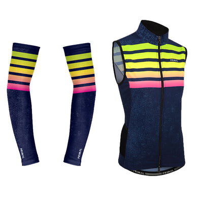 Women's Chameleon 4 Pocket Wind Vest & Arm Warmers (Bundle&Save) -  Custom Cycling Clothing and accessories online - Primal Europe