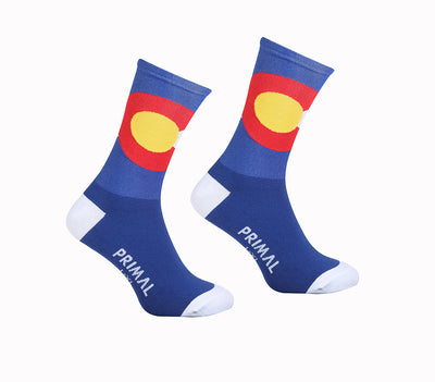 CO Flag Cycling Sock -  Custom Cycling Clothing and accessories online - Primal Europe