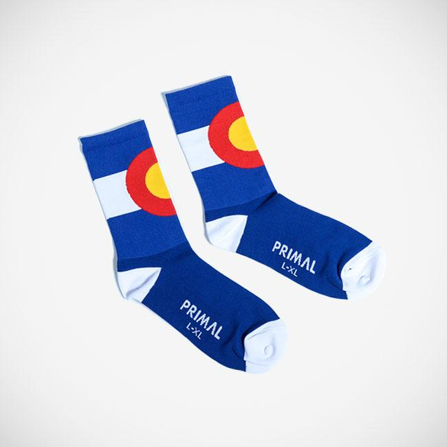 CO Flag Sock - Primal Europe Cycling clothing