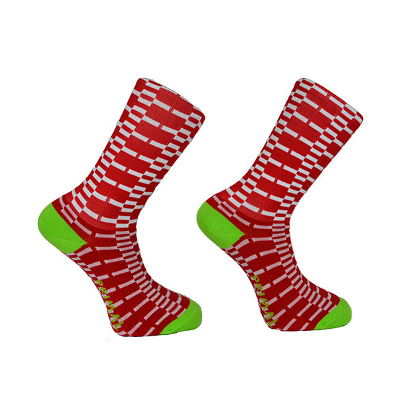 Red Crosstech Cycling Socks
