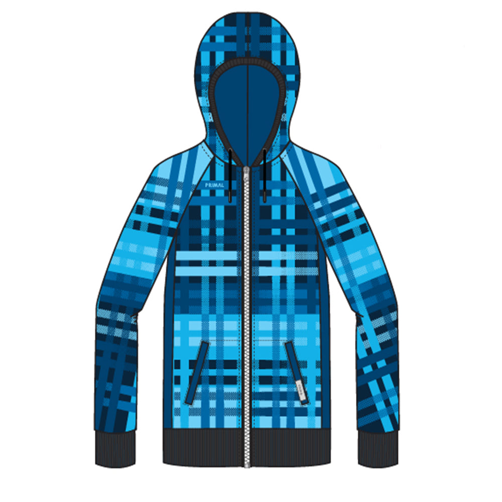 Cameron Tracer Hoodie - Blue - Primal Europe Cycling clothing
