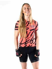 PRE-ORDER Shut Up Legs Overprint Coral Women's Omni Jersey -  Custom Cycling Clothing and accessories online - Primal Europe