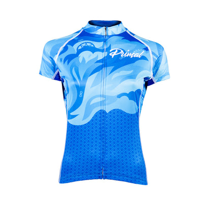 Fierce Women's Evo Jersey - Blue Flame - Primal Europe Cycling clothing