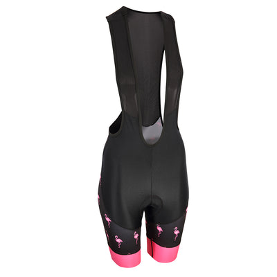 Flamingo Black Women's Evo 2.0 bibs -  Custom Cycling Clothing and accessories online - Primal Europe