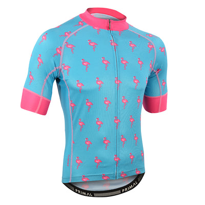 Flamingo Blue Men's Evo 2.0 Jersey -  Custom Cycling Clothing and accessories online - Primal Europe