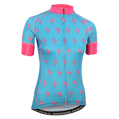 Flamingo Blue Women's EVO 2.0 Jersey -  Custom Cycling Clothing and accessories online - Primal Europe