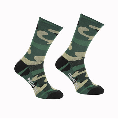 Camo Green Cycling Socks -  Custom Cycling Clothing and accessories online - Primal Europe