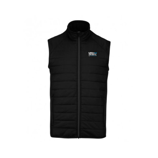 Velo29 event gilet - wind water resistant padded - black colourway