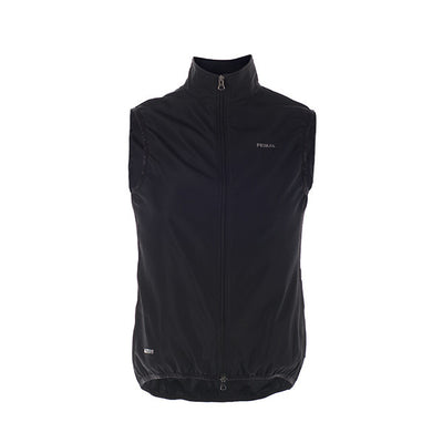 Verona Women's Black Wind Vest / Gilet - wind water resistant - sleek black monochrome colourway