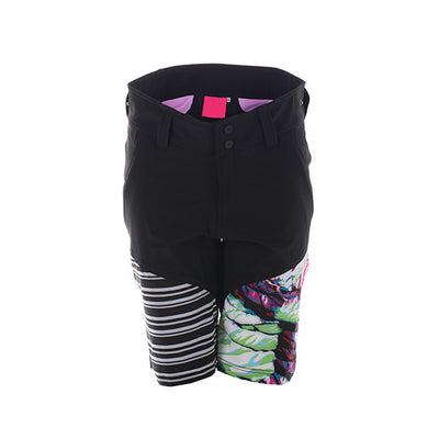 Alpine Camo Women's MTB Escade Cycling Chamois Short - Stripe Tropical Bright Purple Colourway