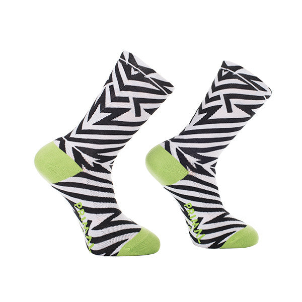 Cycling Socks Electric Shock Black White Green