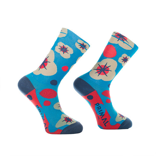 Floral Explosion Socks - Primal Europe Cycling clothing