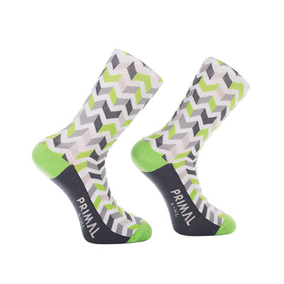 Cycling Basalt Socks Green White Grey
