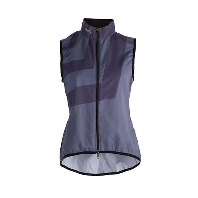 Apex Women's Cycling Wind rain resistant Vest Gilet - Grey Monochrome Stripe Pattern Colourway