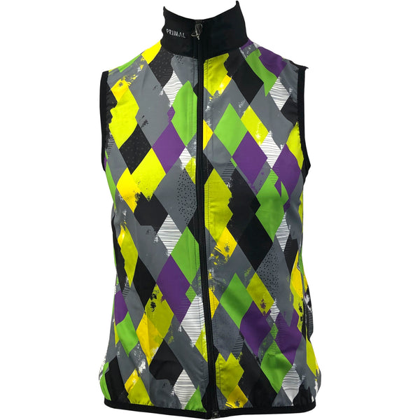 Men's Diamond Geezers Grey Wind Vest - Primal Europe Cycling clothing