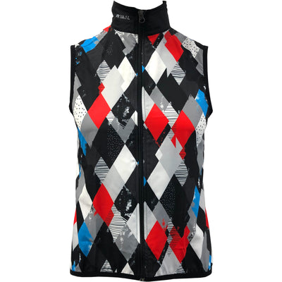 Men's Diamond Geezers Black Wind Vest - Primal Europe Cycling clothing