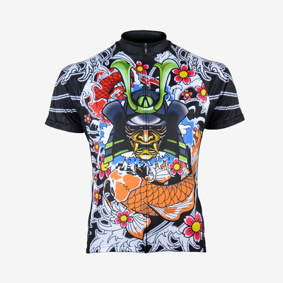 Japanese Warrior Men's Sport Cut Cycling Jersey