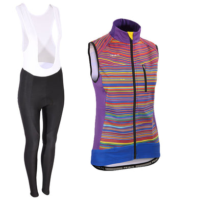 Kismet Rainbow Aliti Thermal Vest & Dawn Bib Tights (Bundle&Save) -  Custom Cycling Clothing and accessories online - Primal Europe