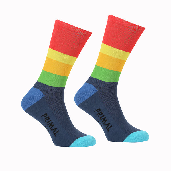 Multi Bright Sock - Primal Europe Cycling clothing