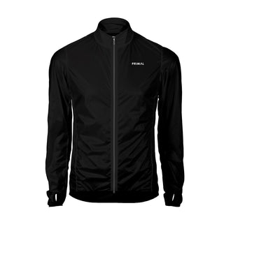 Men's Obsidian Black Rain Jacket -  Custom Cycling Clothing and accessories online - Primal Europe