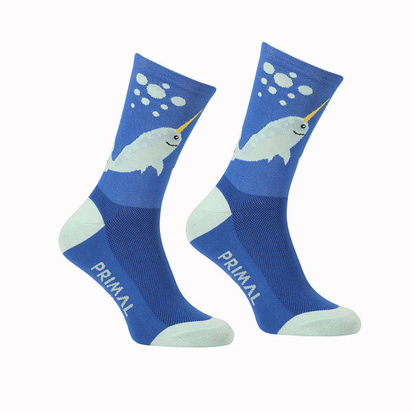 Narwhal Socks - Primal Europe Cycling clothing