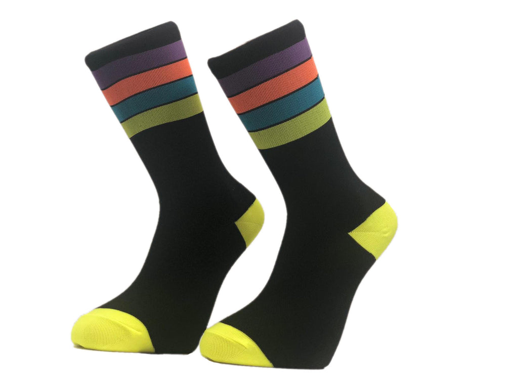 Neon Rainbow Socks - Primal Europe Cycling clothing