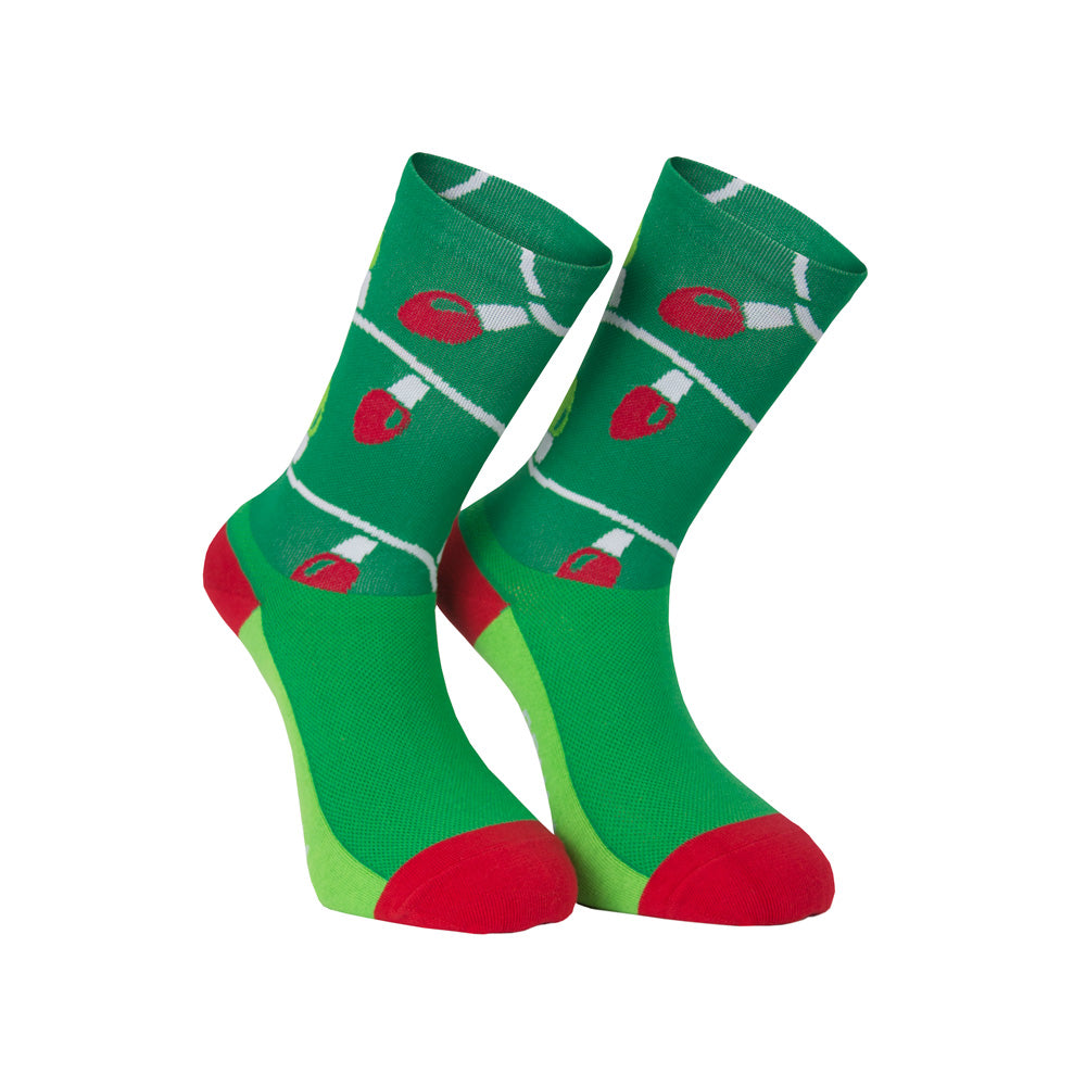 Christmas Light Socks - Primal Europe Cycling clothing