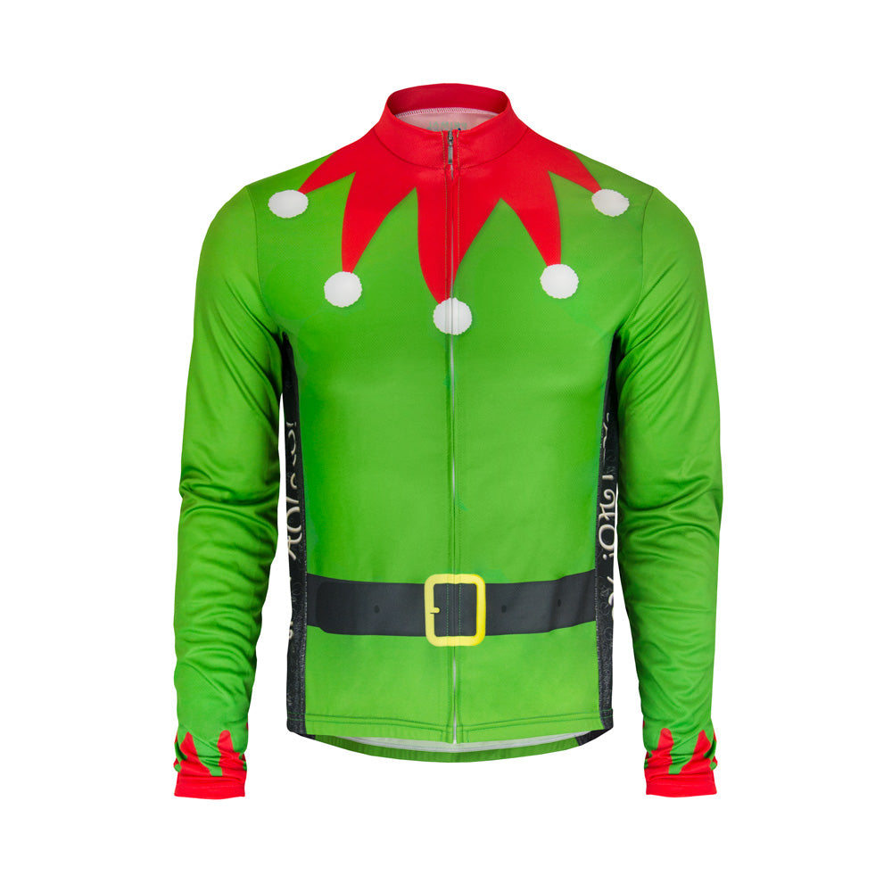 Men's L/S Elf Christmas Cycling Jersey