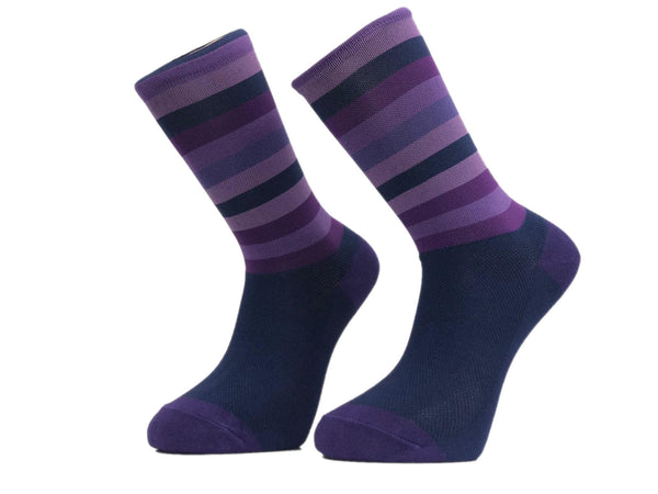 Purple Stripe Cycling Socks -  Custom Cycling Clothing and accessories online - Primal Europe