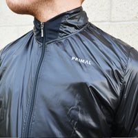Men's Obsidian Black Rain Jacket - Primal Europe Cycling clothing