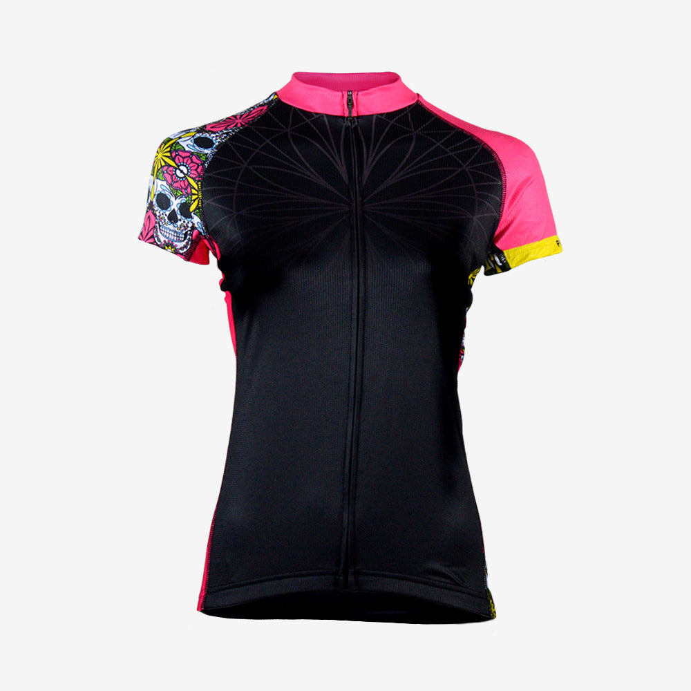 Sugar Skull Women's Evo Jersey - Primal Europe Cycling clothing
