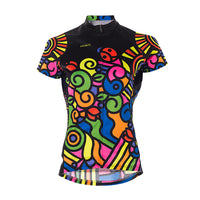 Tripper Day Womens Jersey - SpeedPro Technical Fabric - Bright Multi-Coloured Sport Fit