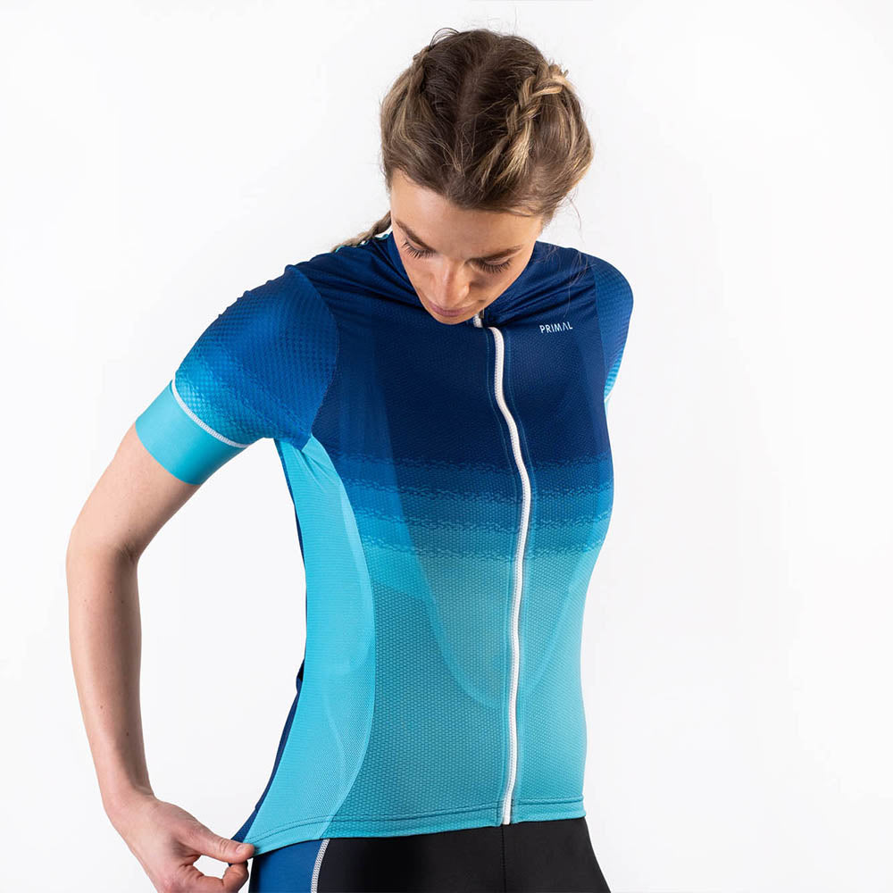 Aqua Women's Helix 2.0 Cycling Jersey -  Custom Cycling Clothing and accessories online - Primal Europe
