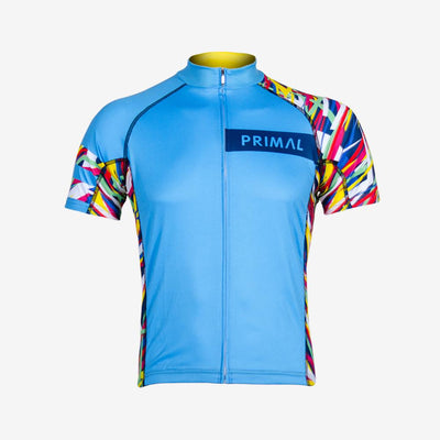 Wild Road Men's Evo Jersey - Electric Blue -  Custom Cycling Clothing and accessories online - Primal Europe