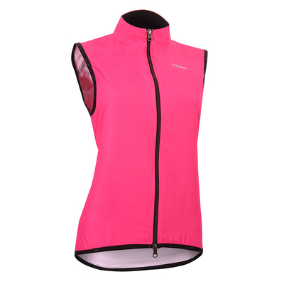 Neon Pink Women's Wind Vest -  Custom Cycling Clothing and accessories online - Primal Europe