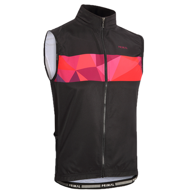 Triangular Men's 4 Pocket Wind Vest / Gilet -  Custom Cycling Clothing and accessories online - Primal Europe