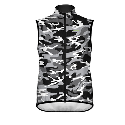 Men's Camo Wind Vest Black - Primal Europe Cycling clothing