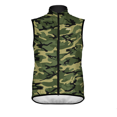 Men's Camo Wind Vest Green -  Custom Cycling Clothing and accessories online - Primal Europe