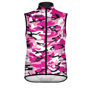 Women's Camo Wind Vest Pink -  Custom Cycling Clothing and accessories online - Primal Europe