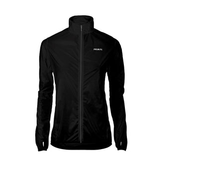 Women's Obsidian Black Rain Jacket - Primal Europe Cycling clothing