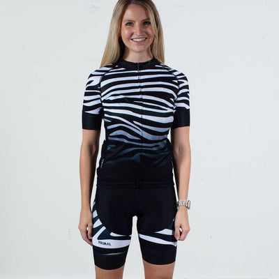 Zebra Women's Evo 2.0 bibs -  Custom Cycling Clothing and accessories online - Primal Europe